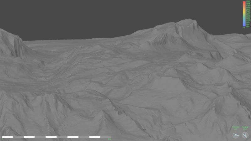 Perspective view of Loser plateau looking SW